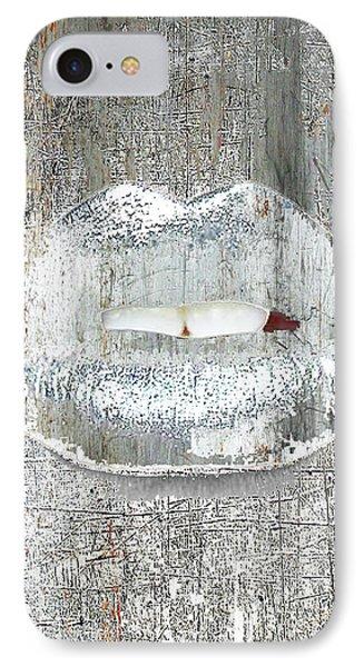 Silver Kiss IPhone Case by Tony Rubino