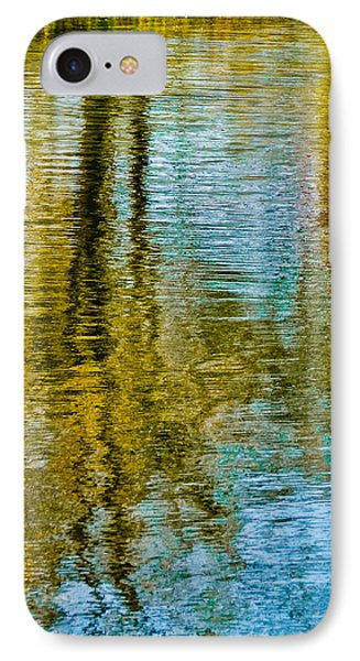 Silver Lake Autum Tree Reflections IPhone Case by Michael Bessler