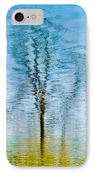 Silver Lake Tree Reflection IPhone Case by Michael Bessler