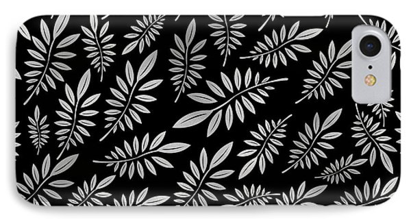 Beach iPhone 7 Case - Silver Leaf Pattern 2 by Stanley Wong