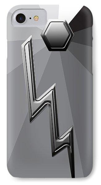 Silver Lightning IPhone Case