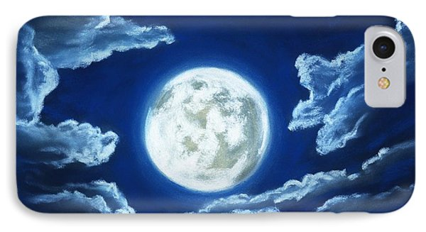 Silver Moon - Sky And Clouds Collection IPhone Case