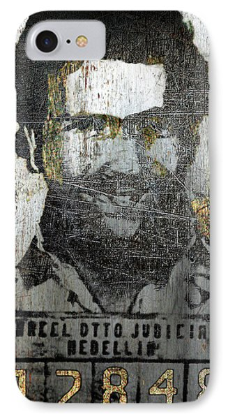 Silver Pablo Escobar Mug Shot 1991 Abstract IPhone Case by Tony Rubino