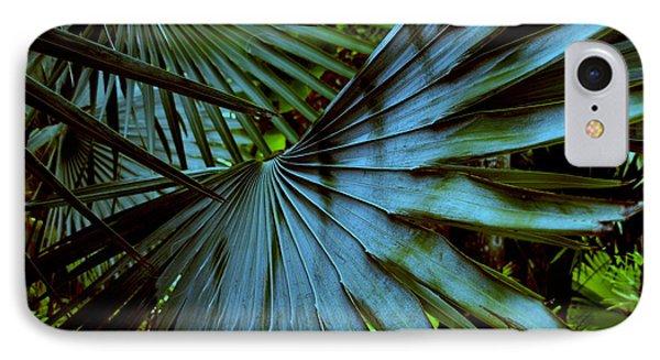 Silver Palm Leaf Phone Case by Susanne Van Hulst