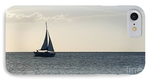 Silver Sailboat IPhone Case by Jeanne Forsythe