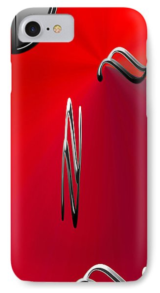 Silver Shapes On Red IPhone Case