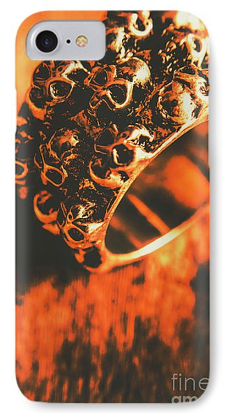 Silver Skulls Pirate Ring IPhone Case by Jorgo Photography - Wall Art Gallery