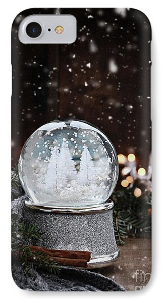 IPhone Case featuring the photograph Silver Snow Globe by Stephanie Frey