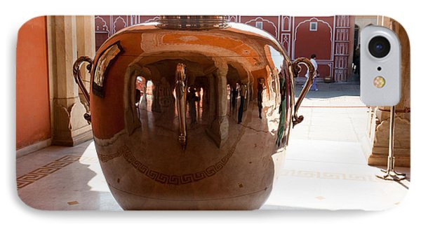 Silver Water Urn Jaipur IPhone Case by Ashish Agarwal