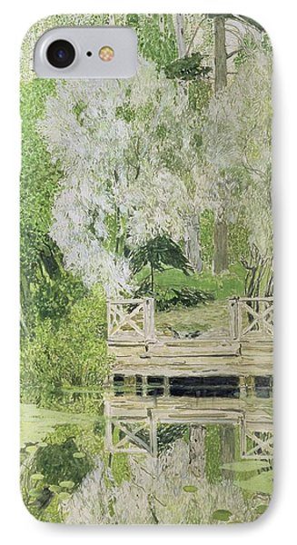Silver White Willow IPhone Case by Aleksandr Jakovlevic Golovin