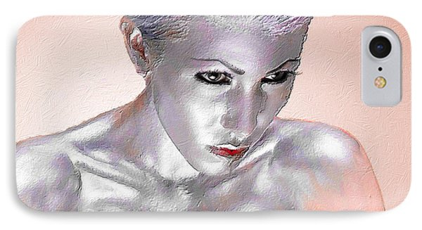 Silver Woman 1 IPhone Case by Tony Rubino