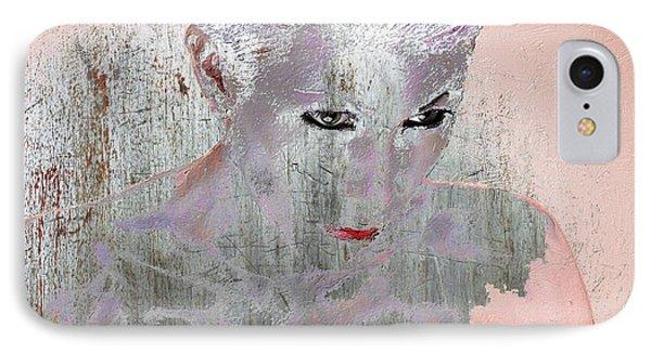 Silver Woman 10 IPhone Case by Tony Rubino