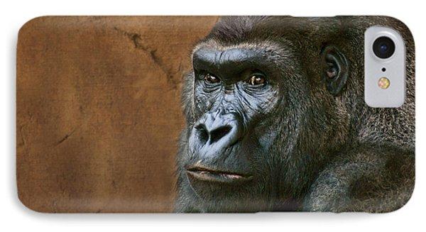 Silverback Stare - Gorilla IPhone Case by Nikolyn McDonald