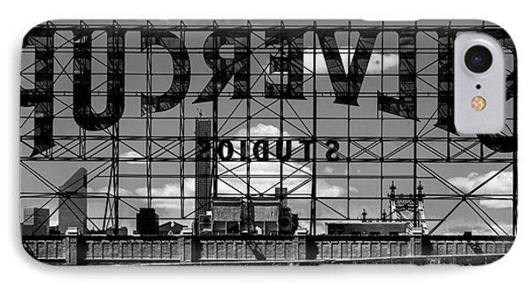 Silvercup Studios Sign Backside IPhone Case by James Aiken