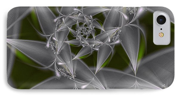 IPhone Case featuring the digital art Silverleaves by Karin Kuhlmann
