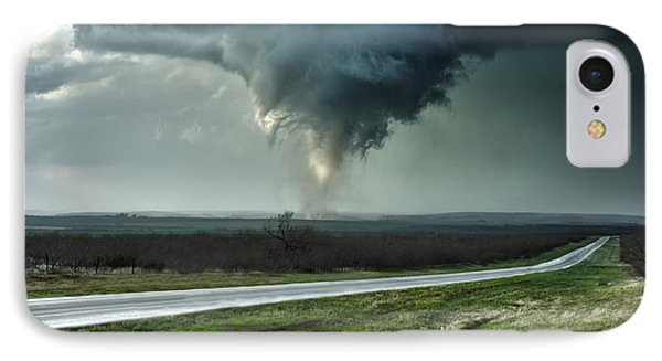 IPhone Case featuring the photograph Silverton Texas Tornado 2 by James Menzies