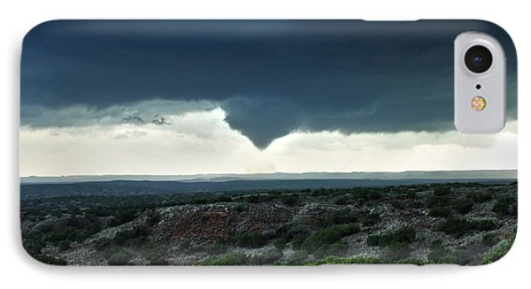 IPhone Case featuring the photograph Silverton Texas Tornado Forms by James Menzies