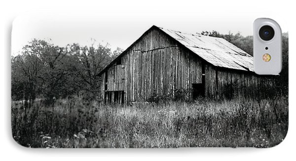 Silvery Vintage Barn IPhone Case by Rebecca Brittain