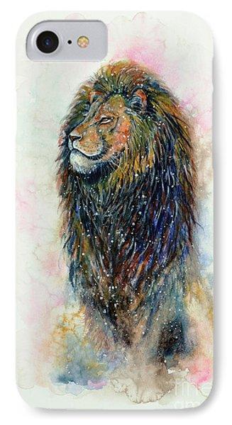 IPhone Case featuring the painting Simba by Zaira Dzhaubaeva