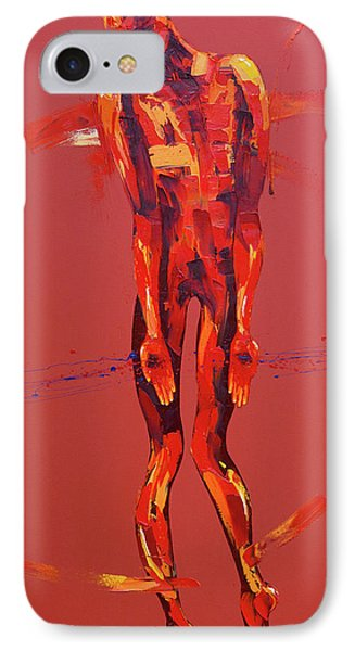 Simon Carries The Cross Of Jesus Station Five IPhone Case by Penny Warden