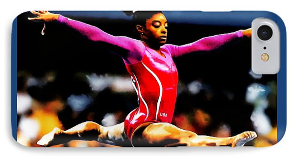 Simone Biles IPhone Case by Brian Reaves