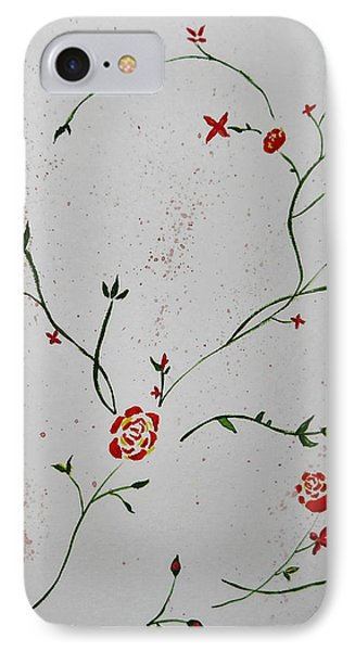 Simple Flowers #1 IPhone Case by Carol Crisafi