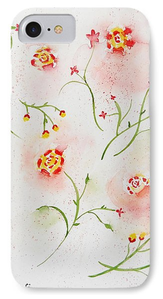 Simple Flowers #2 IPhone Case by Carol Crisafi