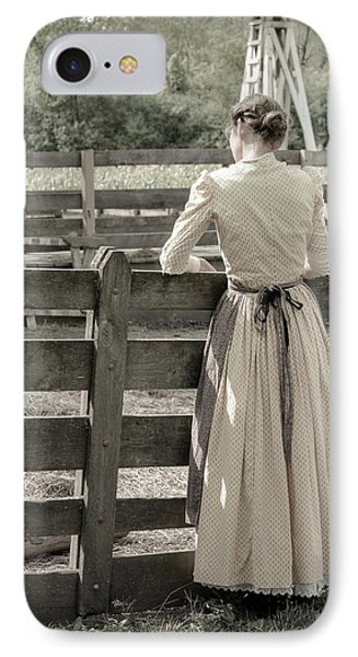 IPhone Case featuring the photograph Simple Life Girl On Farm by Julie Palencia
