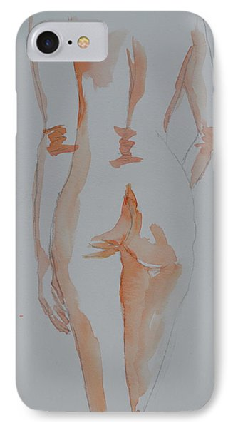 IPhone Case featuring the painting Simple Nude by Beverley Harper Tinsley
