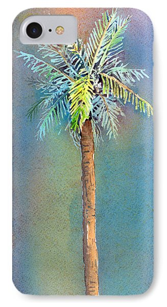 Simple Palm Tree IPhone Case by Arline Wagner