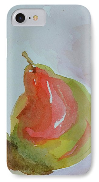 IPhone Case featuring the painting Simple Pear by Beverley Harper Tinsley
