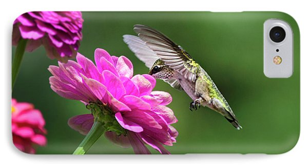 IPhone Case featuring the photograph Simple Pleasure Hummingbird Delight by Christina Rollo