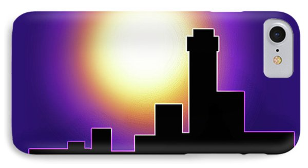 Simple Skyline Silhouette IPhone Case by Yvonne Blasy