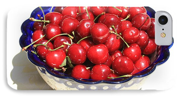 Simply A Bowl Of Cherries Phone Case by Carol Groenen