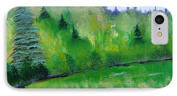 IPhone Case featuring the painting Simply Green by Rod Jellison