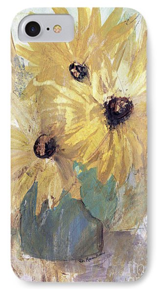 IPhone Case featuring the painting Simply Sunflowers  by Robin Maria Pedrero