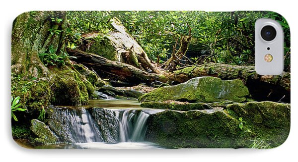 IPhone Case featuring the photograph Sims Creek Waterfall by Meta Gatschenberger