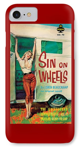 Sin On Wheels IPhone Case by Paul Rader