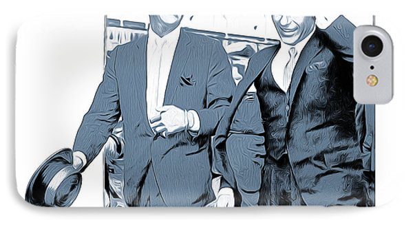 Sinatra And Martin IPhone Case by Greg Joens