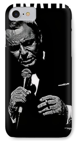 Sinatra W Sig IPhone Case by Dan Menta