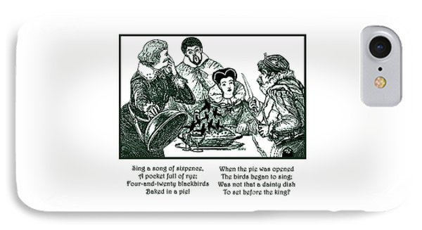 IPhone Case featuring the painting Sing A Song Of Sixpence Nursery Rhyme by Marian Cates