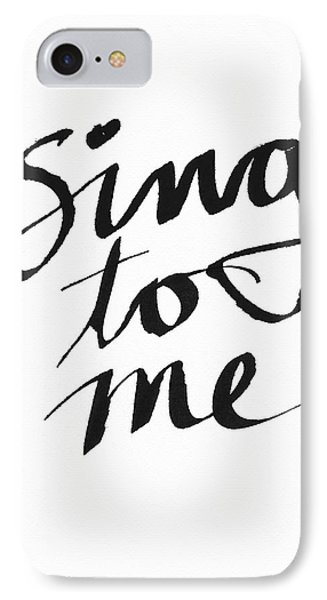 Sing To Me- Art By Linda Woods IPhone Case