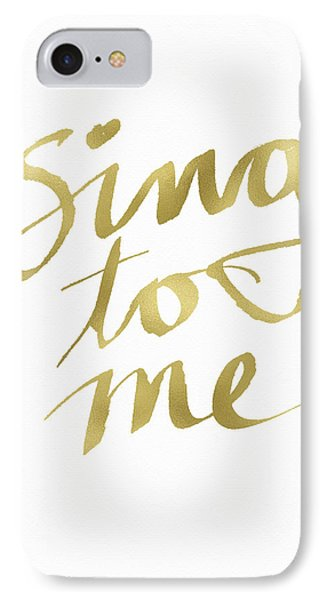 Sing To Me Gold- Art By Linda Woods IPhone Case