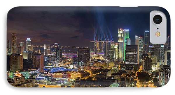 Singapore City Lights Phone Case by David Gn