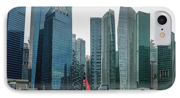 Singapore Harbour IPhone Case by Jocelyn Kahawai