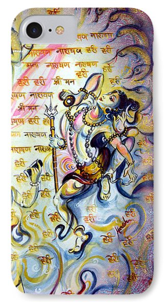 Singing And Dancing For Vishnu IPhone Case by Harsh Malik