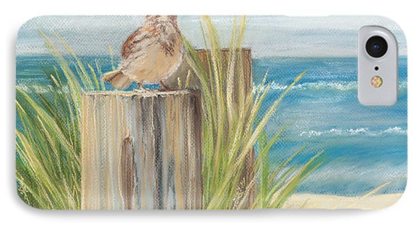 Singing Greeter At The Beach IPhone Case by Michelle Wiarda