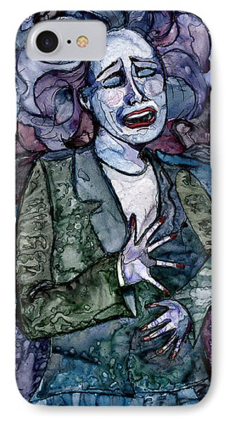 Singing Lady-blues IPhone Case