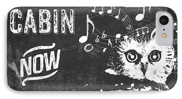 Singing Owl Cabin Rustic Sign IPhone Case by Mindy Sommers