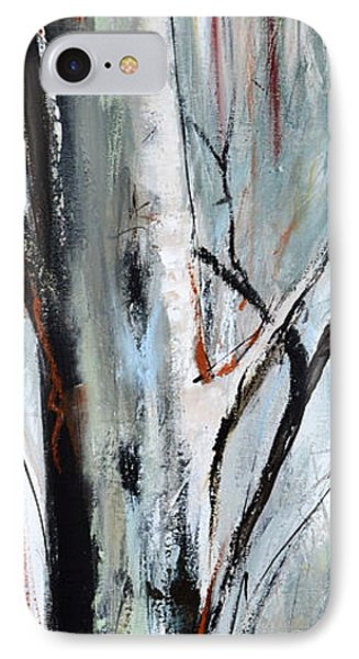 IPhone Case featuring the painting Single Aspen by Cher Devereaux